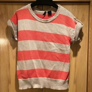 New Directions Striped Cotton Sweater S